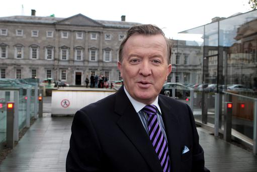 John Perry at Leinster House yesterday