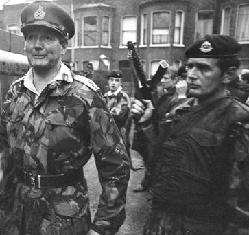 OFFICER: General Sir Robert Ford in the Ainsworth Avenue area of Belfast in July 1972;