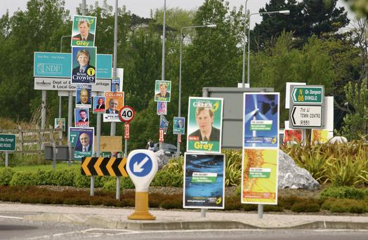 Though these signs are legal, election posters can be hazardous.