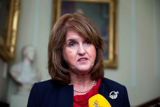 Joan Burton: single-party government would lack balance. Photo: Arthur Carron