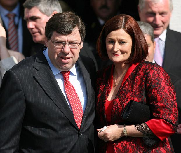 Brian and Mary Cowen. Photo: Julien Behal/ PA