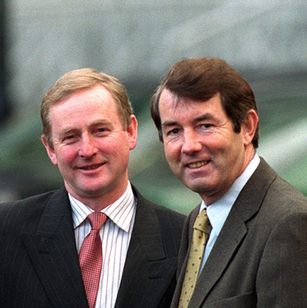 Enda Kenny with former minister Michael Lowry. Photo: Tom Burke