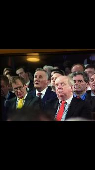 A delegate closes his eyes during the Fine Gael ard fheis