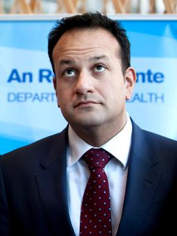 HEALTH MINISTER: Leo Varadkar has a constituency map marked with all of the areas that he has to cover for the election. Photo: Collins