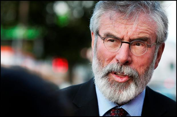 Gerry Adams. Photo: Steve Humphreys