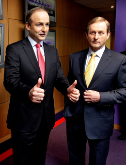 'You can quibble around the edges, but both Fine Gael and Fianna Fáil are essentially centrist, catch-all parties – moderate, mildly conservative, perhaps, but far from reactionary.' Photo: Steve Humphreys