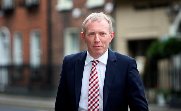 "'Puffed up with moral self-righteousness, Timmy Dooley proclaims that Fianna Fáil will ""honour its electoral promise to abolish Irish Water"" ' Photo :Tom Burke"