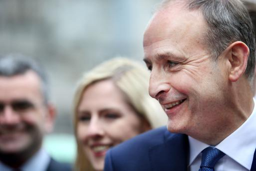 'It is impossible to miss the glint in Micheál Martin's eye when the prospect of becoming Taoiseach enters the discussion' Photo: Gerry Mooney
