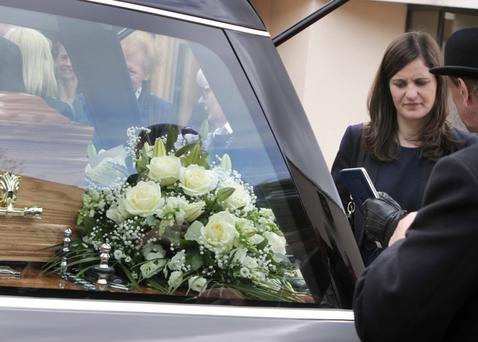 Self-effacing: The funeral of former Fianna Fail TD Sean Ardagh at the Church of St Jude the Apostle in Templeogue, Dublin is attended by daughter, Catherine, who was recently elected a senator. Photo: RollingNews.ie