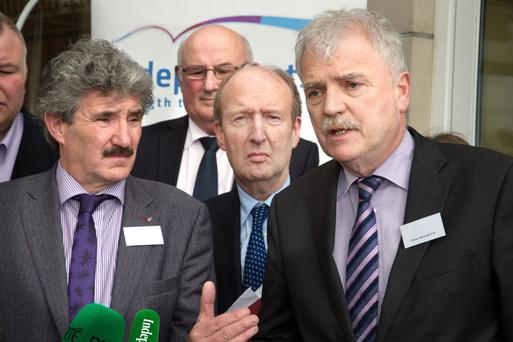Ministers John Halligan, Shane Ross and Finian McGrath Photo: Tony Gavin