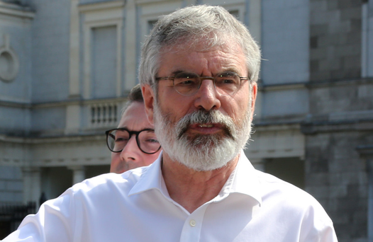 'Consulted': Gerry Adams