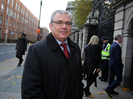 AIB chief executive Bernard Byrne arrives at Leinster House yesterday. Photo: Tom Burke