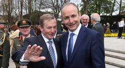 THIS IS NEW POLITICS: Taoiseach Enda Kenny and Micheal Martin