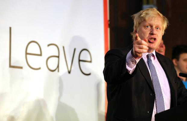 Boris Johnson during the 'Brexit' campaign