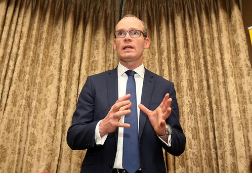 Simon Coveney at the launch of the annual report of the Simon Communities of Ireland. Photo: Tom Burke