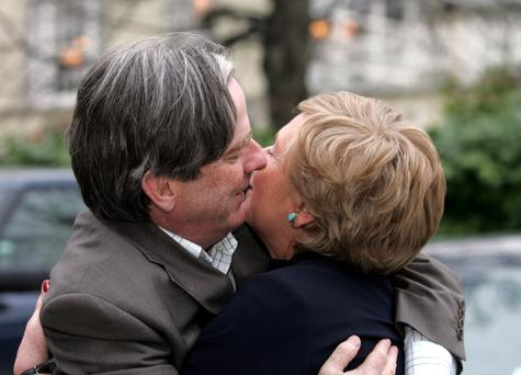 Candidates: Brody Sweeney and Frances Fitzgerald at the 2007 Fine Gael Ard Fheis. Photo: Tom Burke