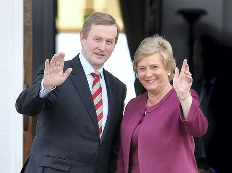 Frances Fitzgerald and Taoiseach Enda Kenny after she was appointed Minister for Justice in May 2014;