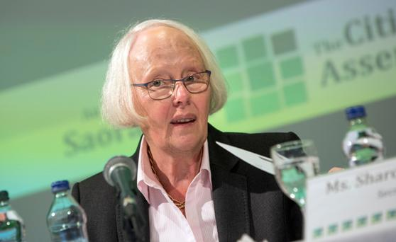 Chairperson Ms Justice Mary Laffoy, at the Citizens Assembly Picture: Fergal Phillips