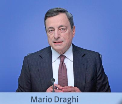 ECB President Mario Draghi. Photo: Getty
