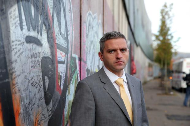 Walls of peace: 'There are now more peace walls in Northern Ireland than there were when the Good Friday Agreement was signed,' says Adrian Johnston, chairman of the International Fund for Ireland.