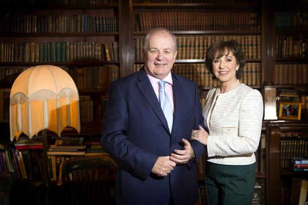 Twp for the price of one: Gavin Duffy and his wife Orlaith Carmody. Photo: David Conachy.
