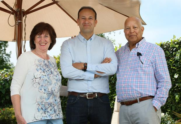 Leo Varadkar with his proud parents Miriam and Ashok. Picture: Frank McGrath