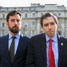 Thirtysomethings: Housing Minister Eoghan Murphy (36) and Health Minister Simon Harris (31) outside Government Buildings.