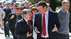 Party leader Brendan Howlin with Alan Kelly. Photo: Gareth Chaney