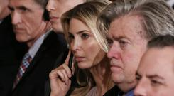 The book tells of an expletive-laden row between Ivanka Trump and Steve Bannon, the former chief White House strategist