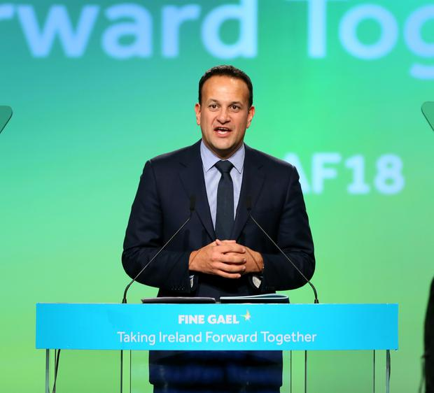 Taoiseach Leo Varadkar at the Fine Gael ard fheis at the weekend. Picture: Frank McGrath