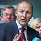 Canvasser: Micheal Martin likes to get out there and judge the nation's mood. Photo: Steve Humphreys