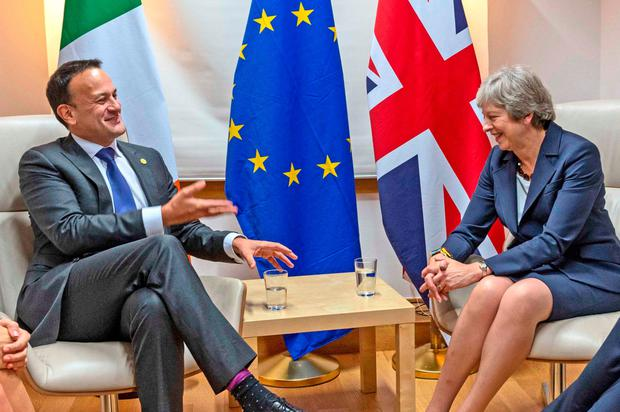 Taoiseach Leo Varadkar and British Prime Minister Theresa May. Photo: PA