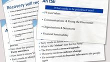 STRATEGY DOCUMENTS: Fianna Fail's plans for recovery