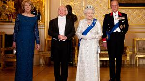 President Michael D Higgins with Queen Elizabeth in 2014. Credit: Chris Bellew/Fennell Photography
