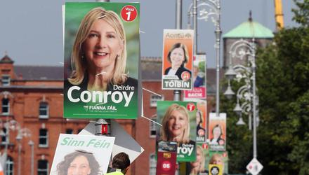 Campaign posters in Dublin Bay South