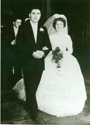 John Hume and his wife Pat on their wedding day in 1960
