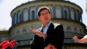 Green Party leader Eamon Ryan TD at Leinster House. Photo: Gareth Chaney/Collins