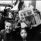 Youngsters hawking newspapers in Dublin in 1972, the most violent year of the Troubles in Northern Ireland. Photo: Getty Images
