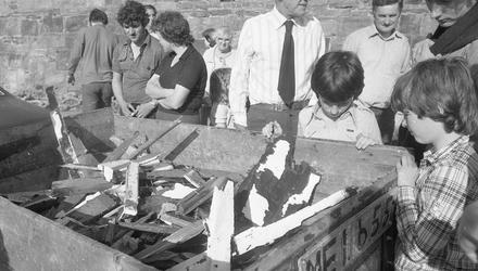 Execution: Locals in Mullaghmore inspect the wreckage of the Shadow V boat