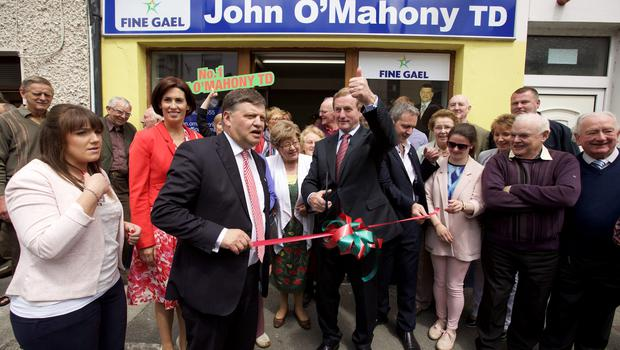 Taoiseach Enda Kenny officially opened John O'Mahony's new constituency office in Ballinrobe, Co Mayo