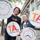 Saoirse Ronan and Eamon Farrell at the launch the 'Your Yes Matters' campaign in Dublin yesterday