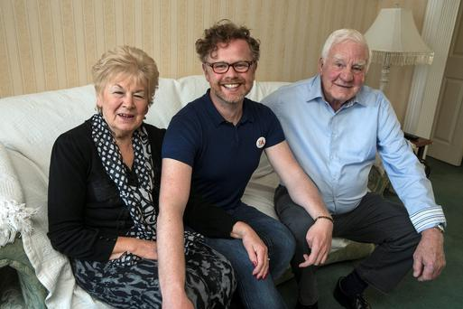 Eithne and Andy Hyland, whose son Andrew is gay, at their home in Ballinteer, Dublin