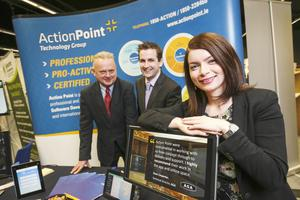 Pearse McCarthy, John Savage and MIriam O'Brien from Action Point