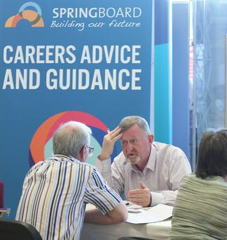 REPRO FREE: Dublin 17th June 2014: at the Springboard Dublin Roadshow, where thousands of jobseekers received free career advice Picture Jason Clarke Photography