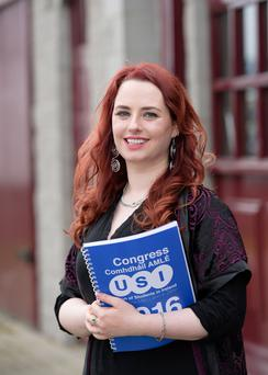 Annie Hoey, from Drogheda who has been elected president of the Union Of Students In Ireland (USI) for the term 2016-2017