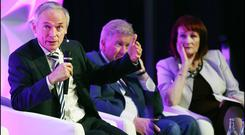 Minister for Education and Skills Richard Bruton TD speaking at the IPPN Conference at CityWest Hotel in Dublin alongside President Maria Doyle.