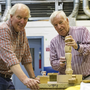 Chaim Factor and Frank Hedderman at the Men's Shed in Sandyford, Co Dublin. Picture: Arthur Carron.