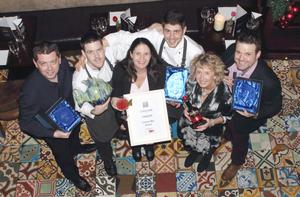 The team at Cornstore Group celebrate being named best cocktail bar last year