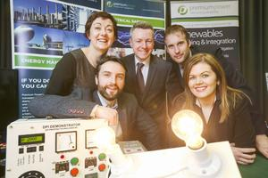 Paula O'Neill, Andrew Hogan, Alan O Kelly, Nicola Cassidy and Paul Dempsey from Premium Power