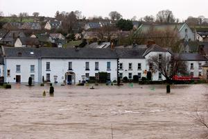 The River Nore in flood at Inistioge Co. Kilkenny. Photo: Dylan Vaughan